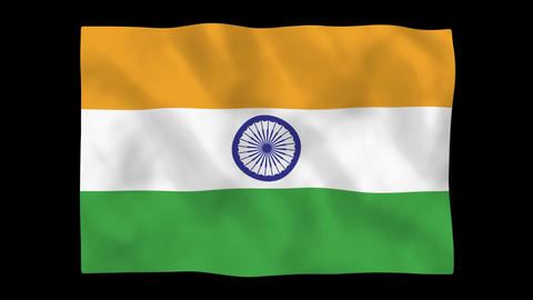 National flag A12 IND HD Stock Video Footage