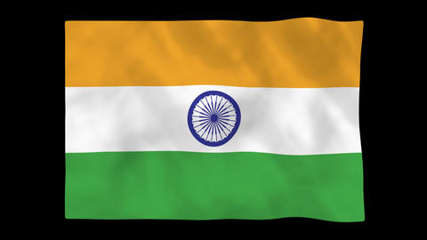 National Flag A12 IND HD stock footage