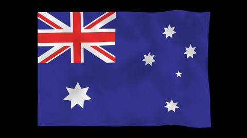 National flag AUS HD Animation