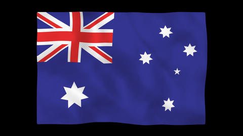 National flag AUS HD Stock Video Footage