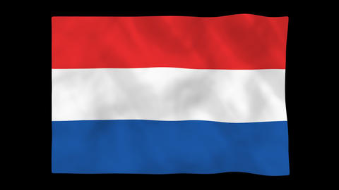 National flag A16 NED HD Animation