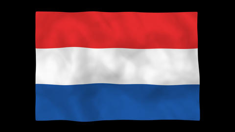 National flag A16 NED HD Stock Video Footage