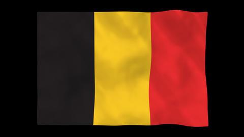 National flag A18 BEL HD Animation