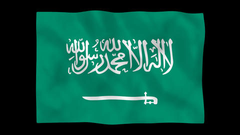 National flag A24 KSA HD Stock Video Footage