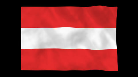 National flag A26 AUT HD Animation