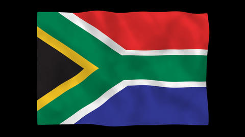 National flag A30 RSA HD Stock Video Footage