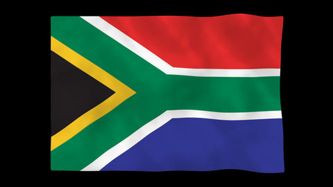 National flag A30 RSA HD Animation