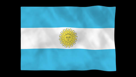 National flag A32 ARG HD Animation