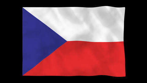 National flag A40 CZE HD Animation