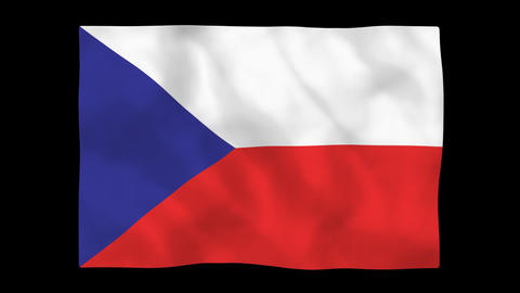 National flag A40 CZE HD Stock Video Footage