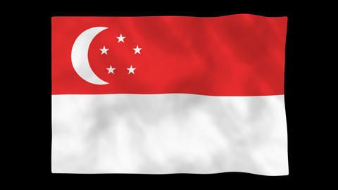 National flag A44 SIN HD Animation