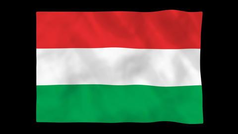 National flag A46 HUN HD Animation