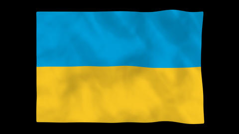 National flag A48 UKR HD Stock Video Footage