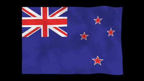 National flag A52 NZL HD Animation