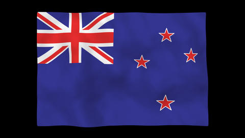 National flag A52 NZL HD Stock Video Footage