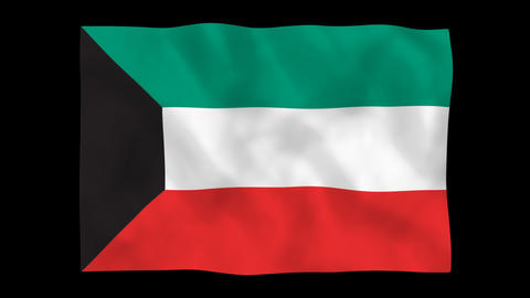 National flag A54 KUW HD Stock Video Footage
