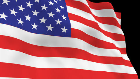 National Flag B01 USA HD Animation