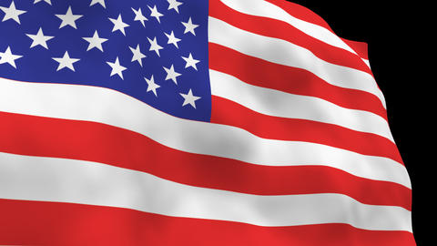 National Flag B01 USA HD Stock Video Footage