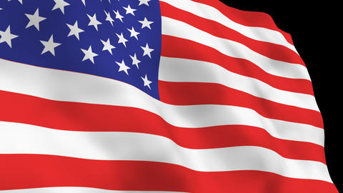 National Flag B01 USA HD Stock Video Footage