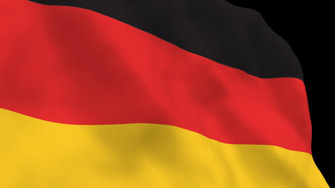 National Flag B03 GER HD Stock Video Footage