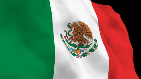 National Flag B15 MEX HD Stock Video Footage