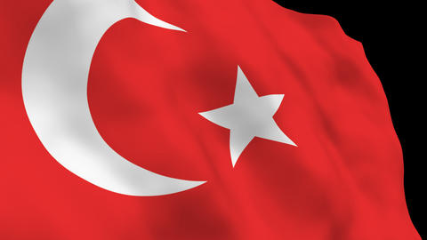 National Flag B17 TUR HD Stock Video Footage