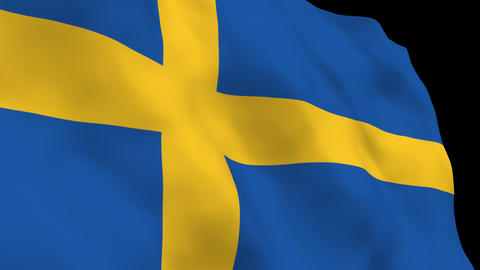 National Flag B19 SWE HD Stock Video Footage