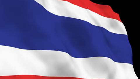 National Flag B35 THA HD Stock Video Footage