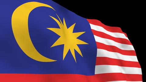 National Flag B41 MAS HD Stock Video Footage