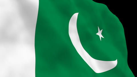 National Flag B53 PAK HD Stock Video Footage