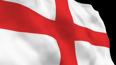 National Flag B67 ENG HD Stock Video Footage