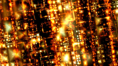 Golden Grid Stock Video Footage