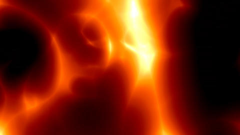 fiery red lava rotation Stock Video Footage