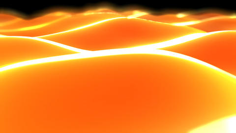 orange waves Stock Video Footage