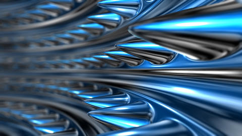 blue molten organic tunnel Animation