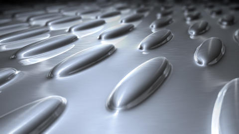 silver oval flat surface Stock Video Footage