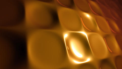 gold molten squares Stock Video Footage