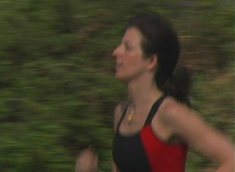 Beautiful Woman Jogging (3) Stock Video Footage