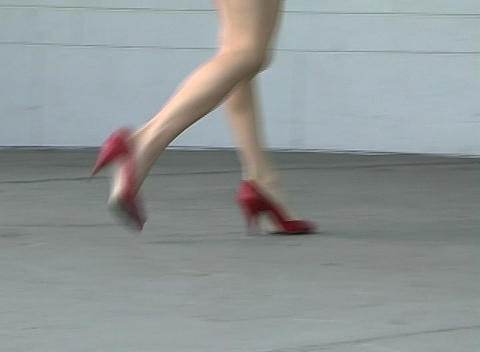 Alina's Luscious Legs (2) Stock Video Footage