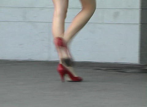 Alina's Luscious Legs (2) Stock Video Footage