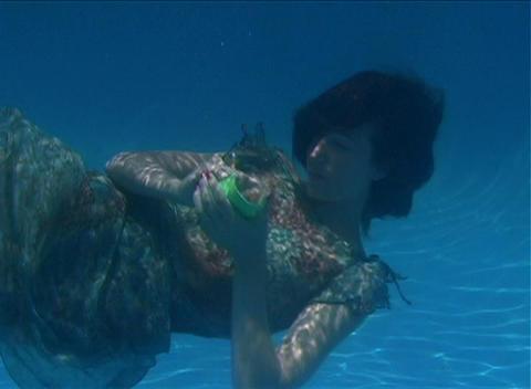 Alina Underwater 1 Stock Video Footage