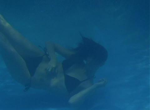 Alina Underwater 5 Stock Video Footage
