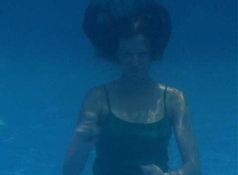 Alina Underwater 11 Stock Video Footage