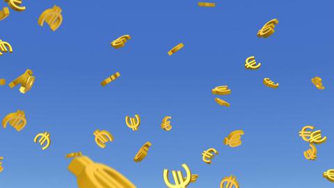 Money Euro 3 b HD Stock Video Footage