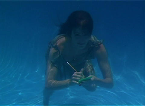 Alina Underwater 2 Stock Video Footage