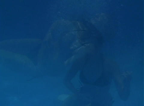 Alina Underwater 6 Stock Video Footage