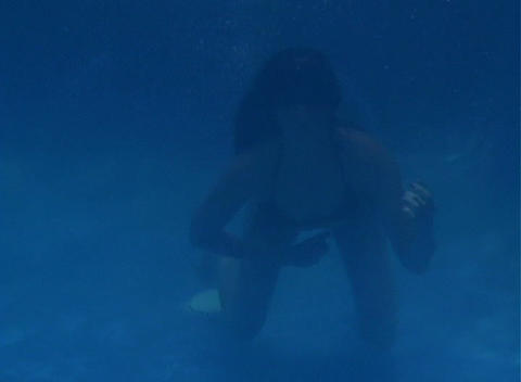 Alina Underwater 6 Stock Video Footage