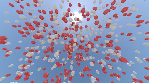 balloon 2 cb HD Stock Video Footage