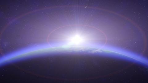 Earth SunR HD Stock Video Footage