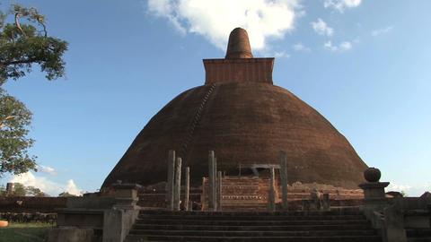 Jetavana stupa in Anuradhapura, Sri Lanka Footage
